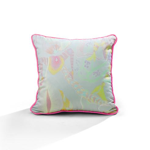 Leggy Hearts piping cushion