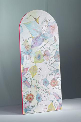 Boney Flowers wallpaper (acid pastel)