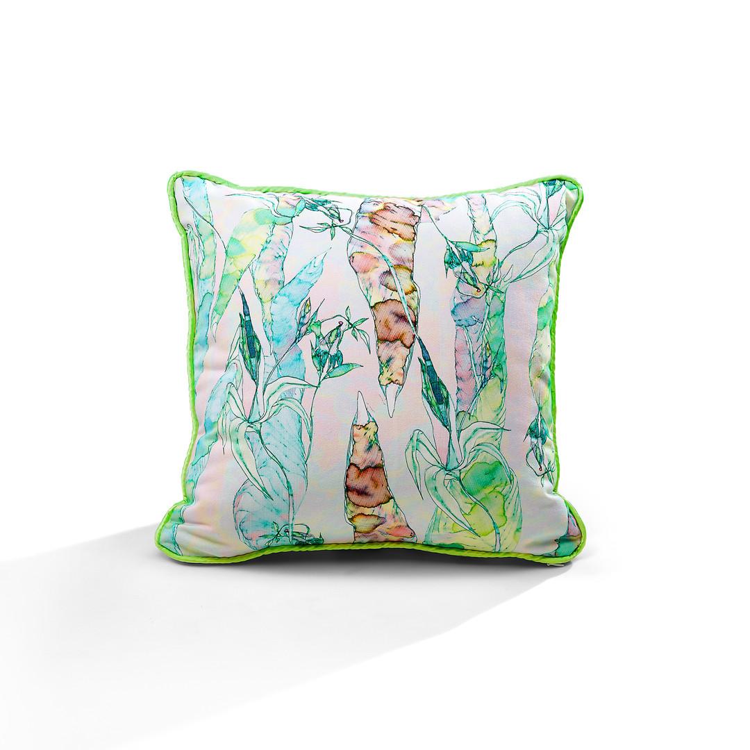 Ugly Trees piping cushion
