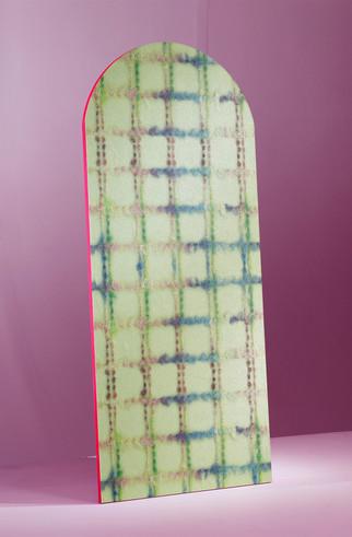 Latex Check wallpaper (apple green)