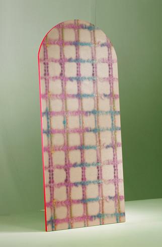 Latex Check wallpaper (skin pink)