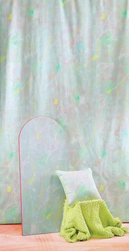 Lippy Flowers fabric (aqua)