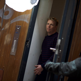 Christy Meyer (Chrissie) and David Menkin (Daniel) rehearsing a scene on the set of 'Clothes and Blow'.
