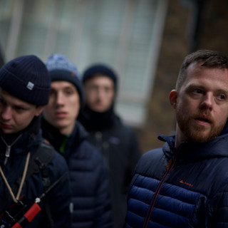 From left to right: Director of Photography Jack Mealing, Gaffer Harry Gay and Writer/Director Sam Peter Jackson