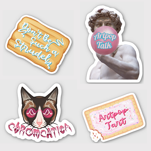 Four Pack of Stickers