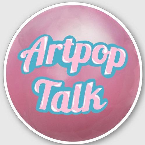 Artpop Talk Bubble Logo Sticker