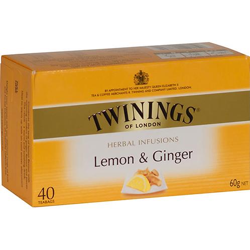 Twining's Lemon And Ginger 40pc