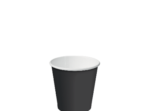 Cup Hot Paperboard Single Wall (Unlid) 280ml Black