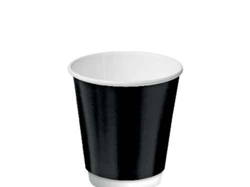 Cup 8oz Double Wall Black (500)