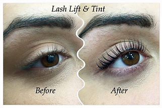 Lash Lift & Tint Blue Black Tint and eye