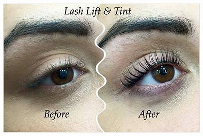 Lash Lift & Tint Blue Black Tint and eye