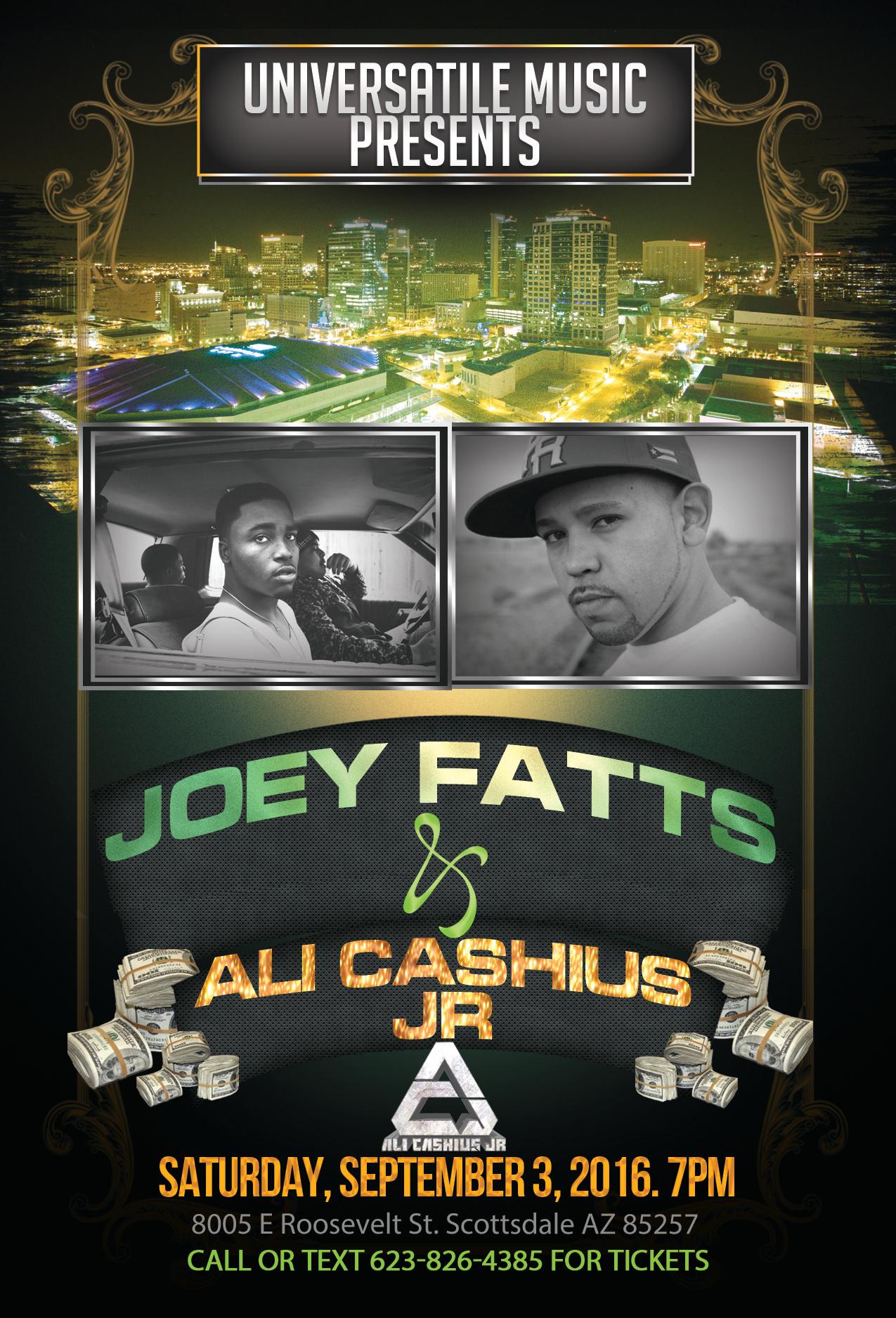 Ali Cashius Jr with Joey Fatts