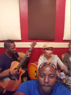 Tracking guitars with Brandon\Kezia