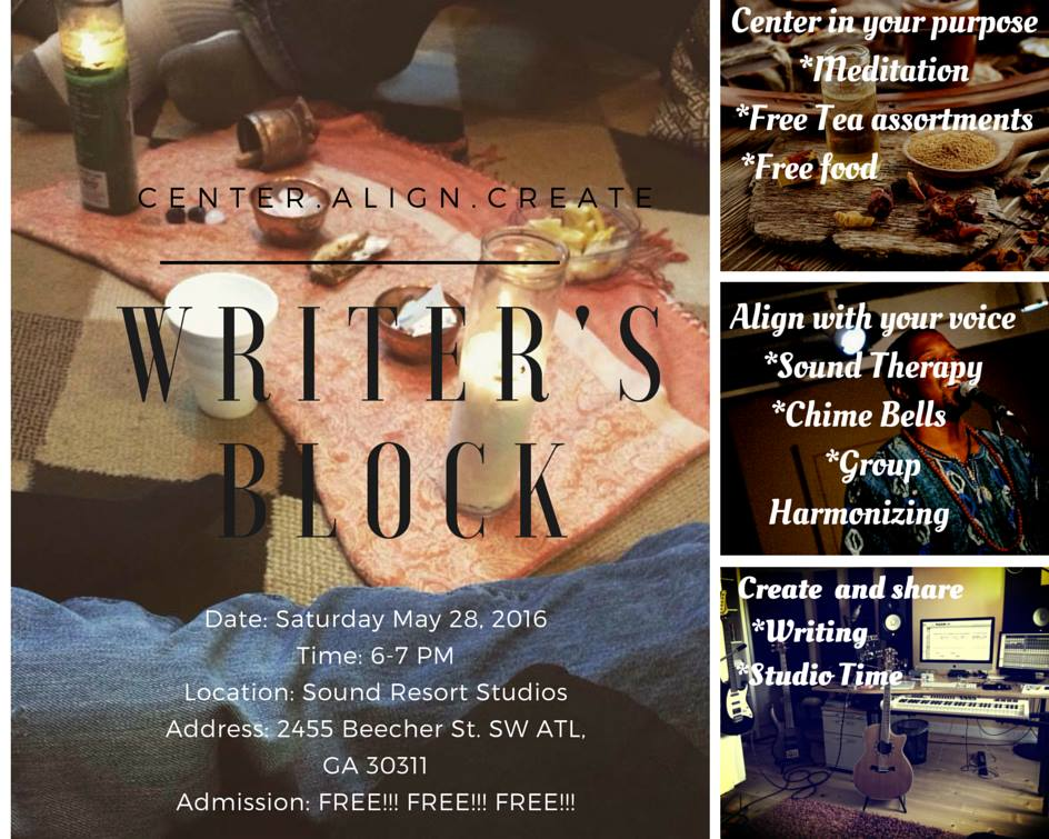 2nd Writer's Block Event