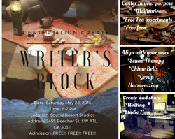 2nd Writer's Block Event