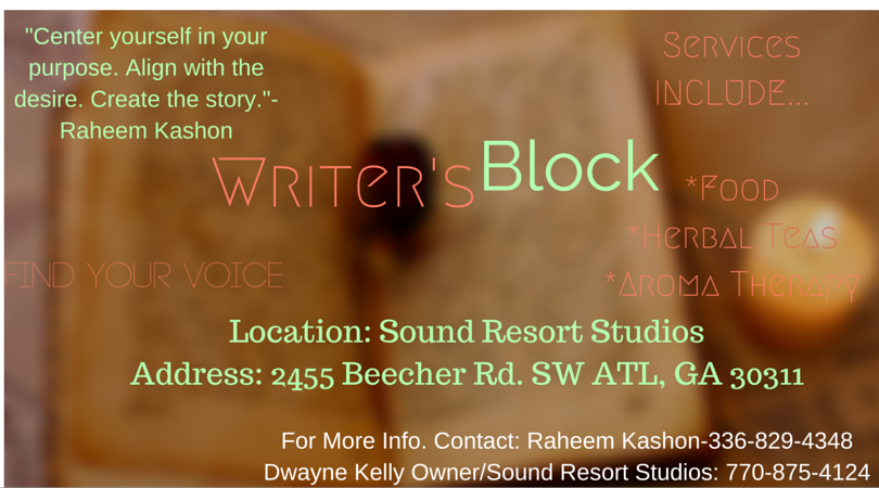 4th Writers Block Event