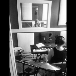 Abbey and Ellie recording