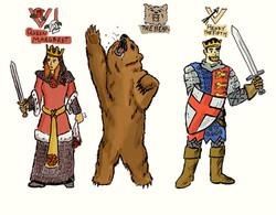 Artwork of Margaret, Bear, Henry V