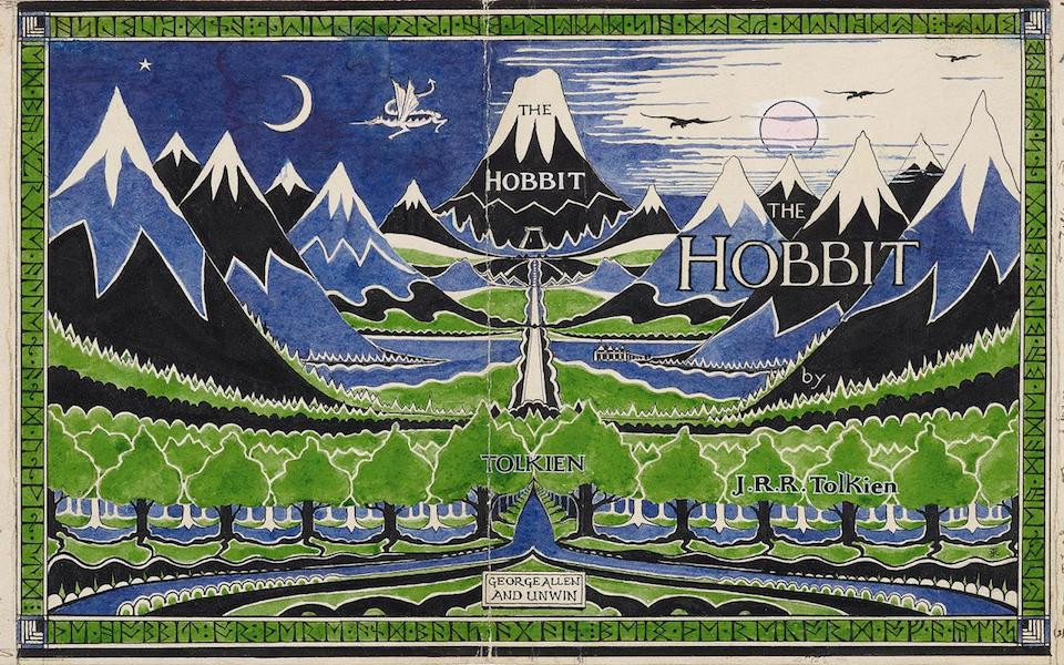 Tolkien's illustration for The Hobbit's cover