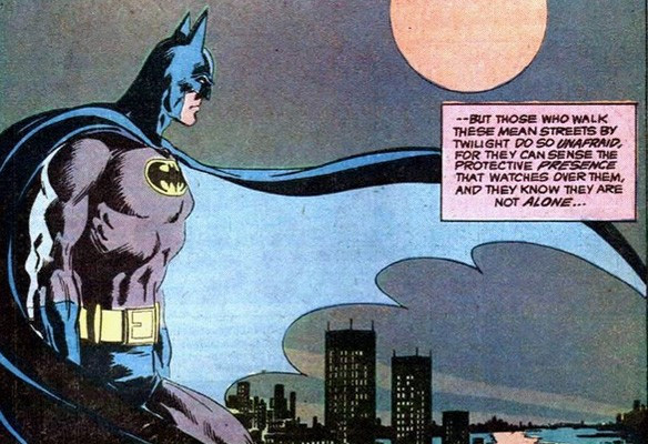 Batman watches over Gotham City