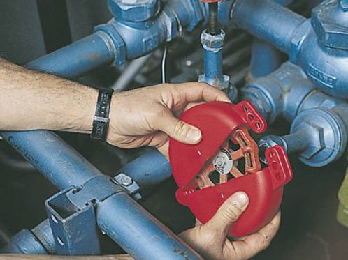 RED BALL VALVE LOCKOUT