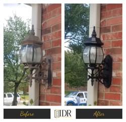 Before & After Iron Lantern Refinish