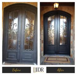 Before & After Iron Door Refinishing