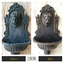Before & After Iron Wall Sconce Refi
