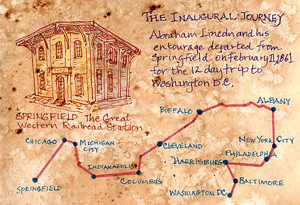 Lincoln Inaugural route