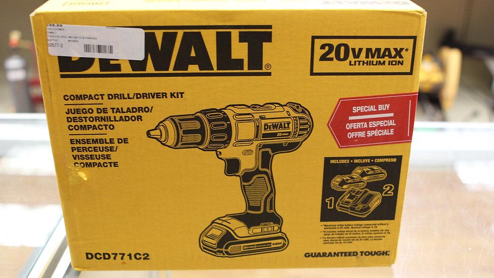 Dewalt Compact Drill/ Driver Combo M#DCD771C2