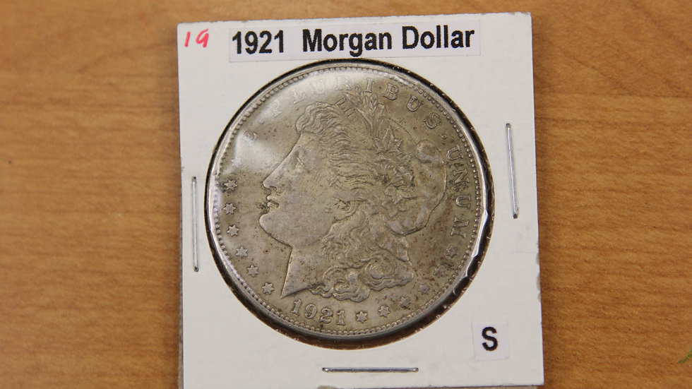 "1921 Morgan Silver Dollar ""S"" Mint"