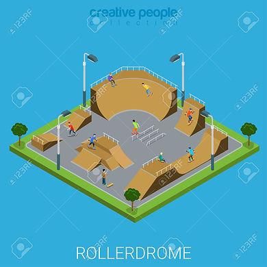 skate-roller-arène-rollerdrome-3d-city-b