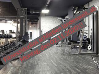 bundesweite Schließung der Trainingsstätten, ab 02.11.2020