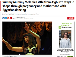 Article belly dance and being a mother Melanie Sirocco BellyBabes