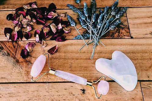 Rose quartz beauty set