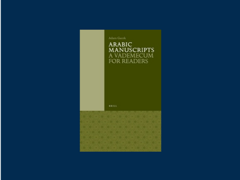 Review of Arabic Manuscripts: A Vademecum for Readers