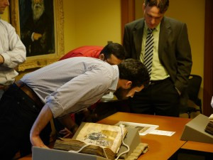 Viewing Manuscripts at the Rubenstein Library