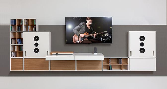 Square | HiFi System-Möbel Wohnwand