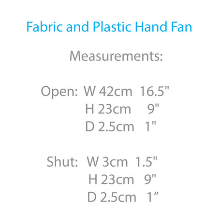 Fabric and Plastic Hand Fan