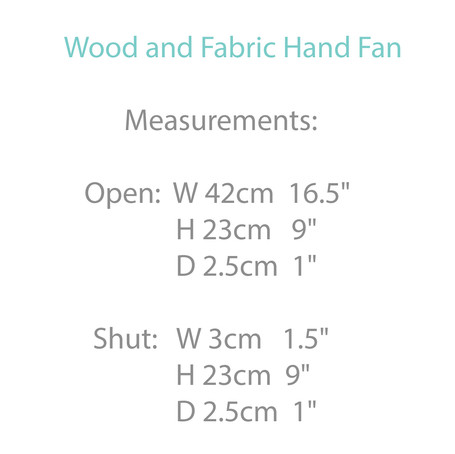 Wooden and Fabric Fan