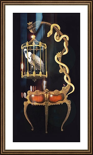 A Vulture in a Cage painting for digital