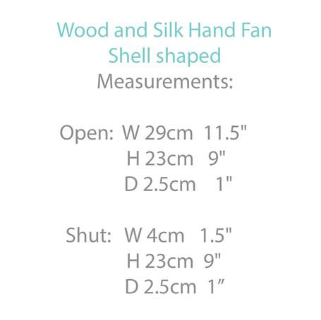 Bamboo and Silk Shell Shaped Hand Fan.jp