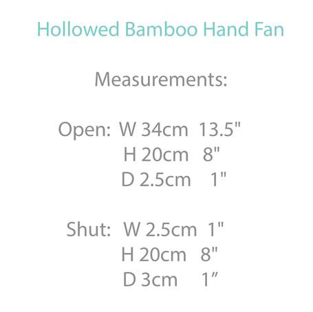 Hollowed Bamboo Hand Fan