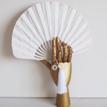 Wood and Silk Shell Shaped Fan