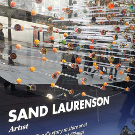 Artist sand laurenson Selfridges window