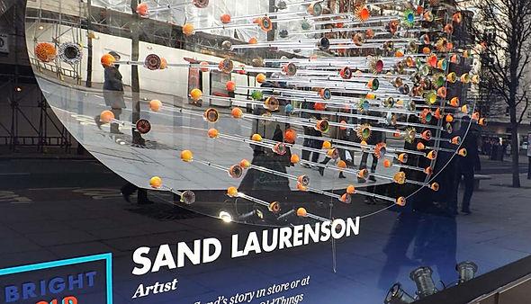 Artist sand laurenson Selfridges window