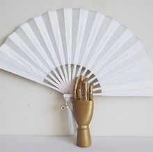 Large Silk and Rosewood Wall Art Fan