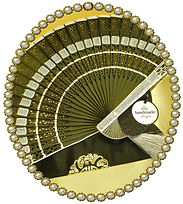 Embellished hollowed bamboo fans from No