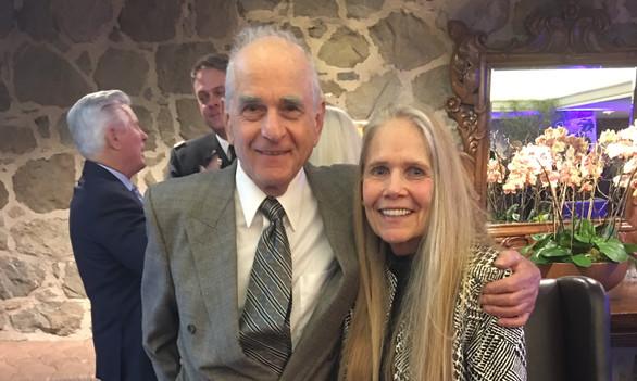 Executive Director Jodi Galvin & husband Joe Sorrentino salute veterans at the American Legion Post 283 Veterans Day Event