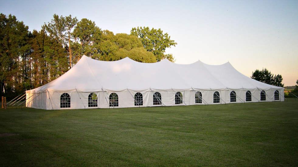 40x120 wedding tent with window sidewall